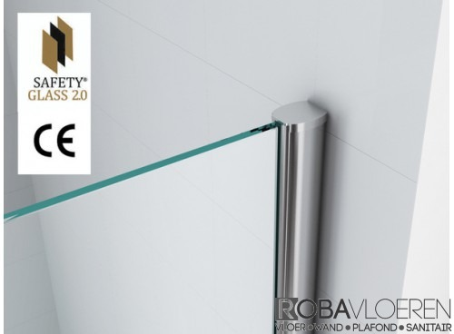Safety Glass inloopdouche 80 cm 10 mm NANO
