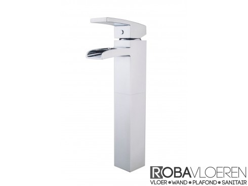 Rombo XL wastafelkraan waterval chroom